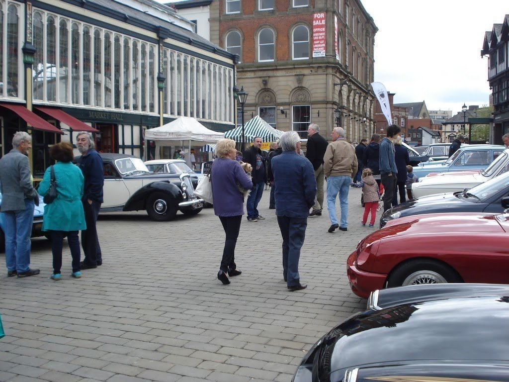 Classic Car Show Stockport Heritage Trust - Market street car show