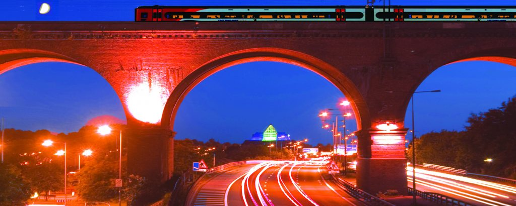 Viaduct at night 1000 x 400