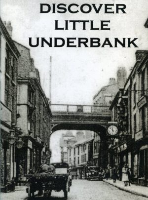 Black and white old image of the street on the cover