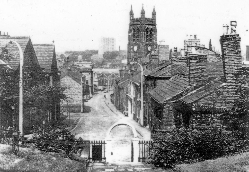 Taken from the top of the Old Rectory steps in the late 1960s