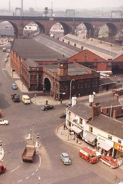 Heaton Lane Tram Depot c1965 - taken from the Fire Station