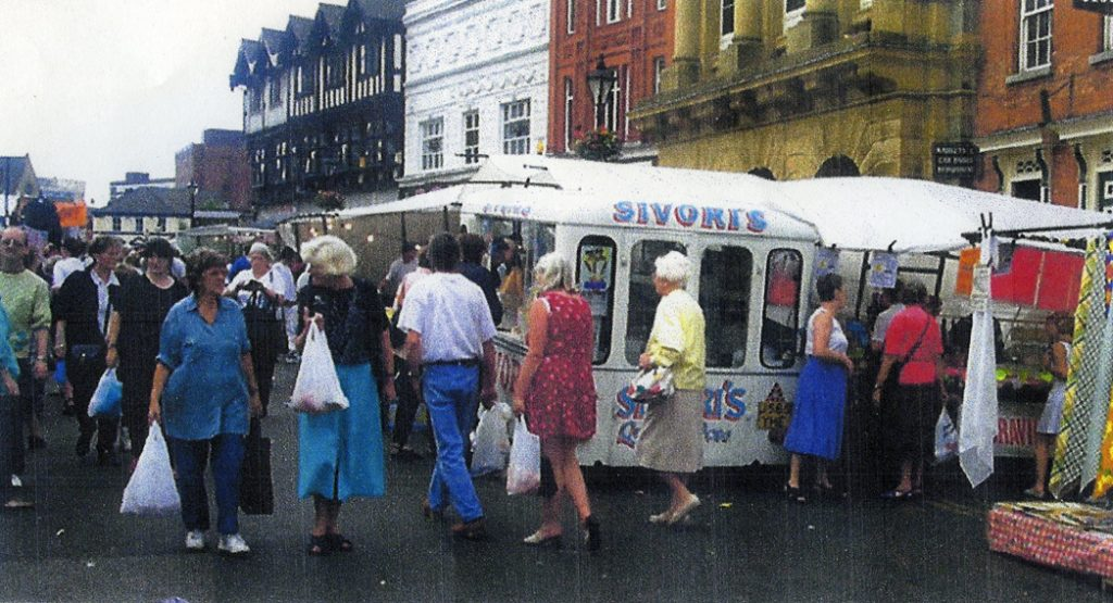 The Market Place still bustling with customers in 1999