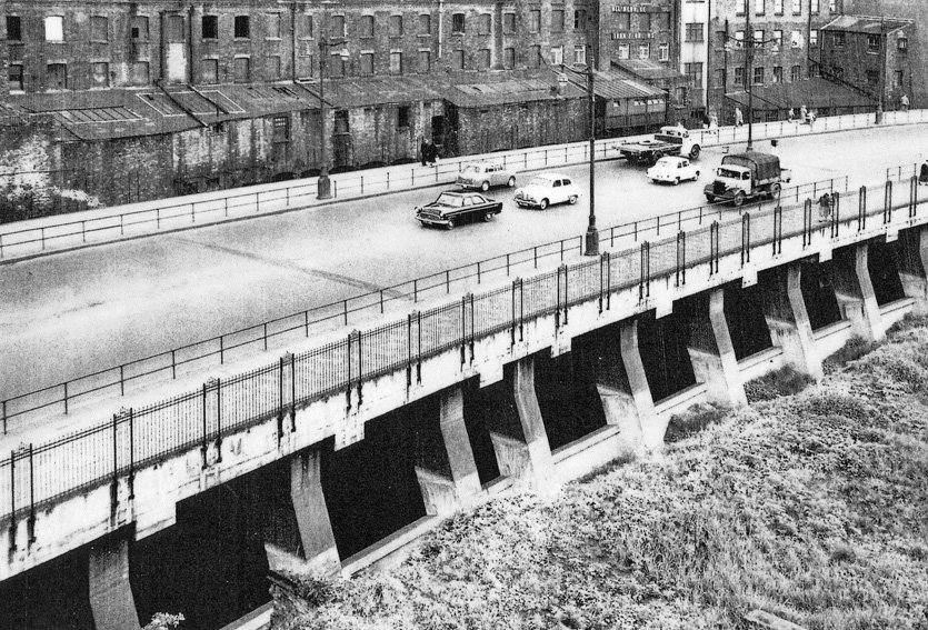 Mersey Way road bridge c1960