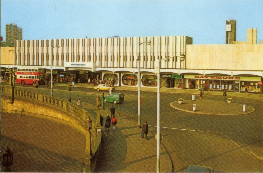 Merseyway c 1970. The front of the new precinct opened in 1967