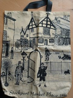 Cotton Shopping Bag with a short handle