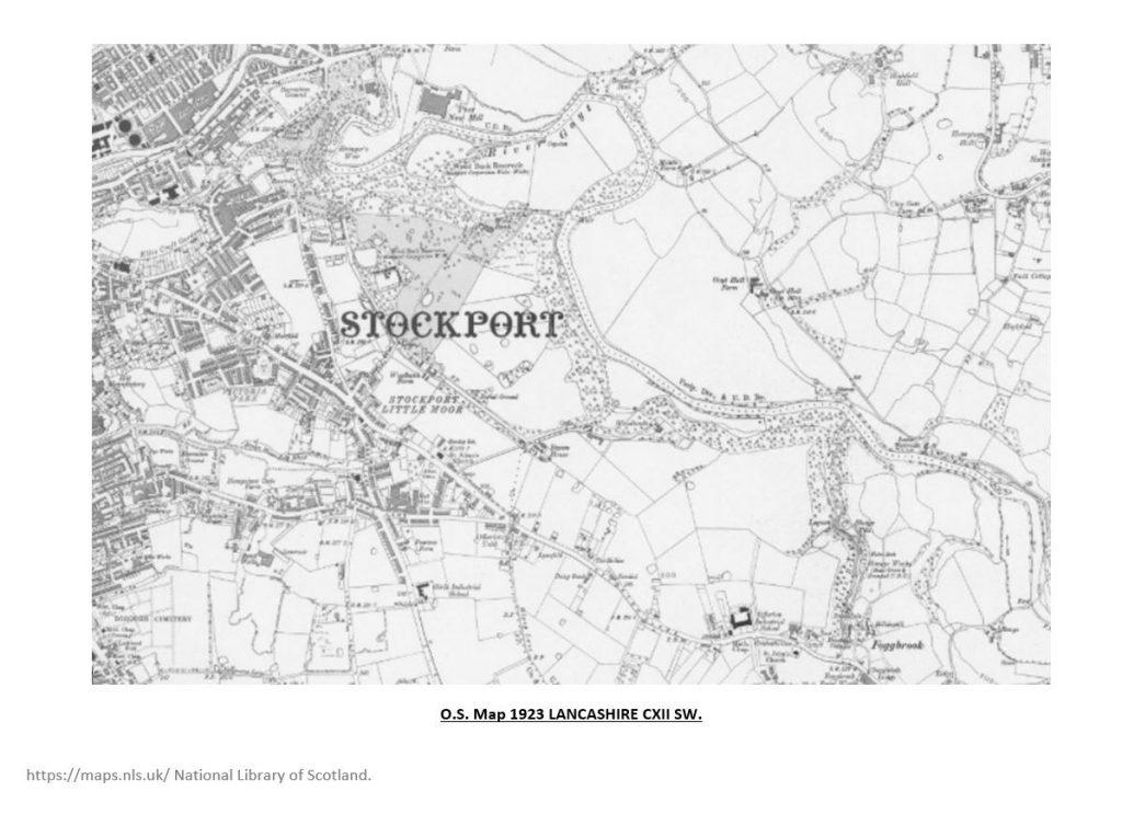 1923 Ordnance Survey map of Lancashire showing Woodbank