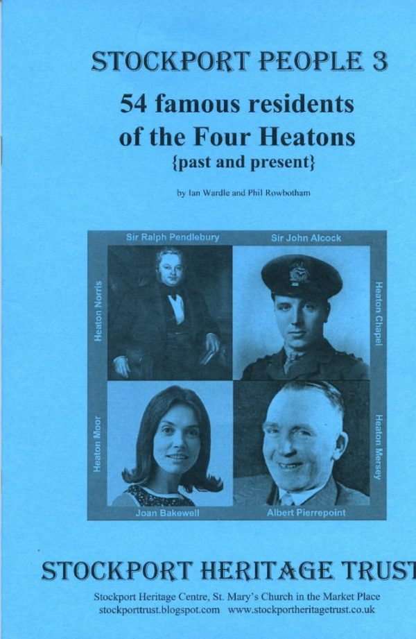 Blue front cover of the booklet